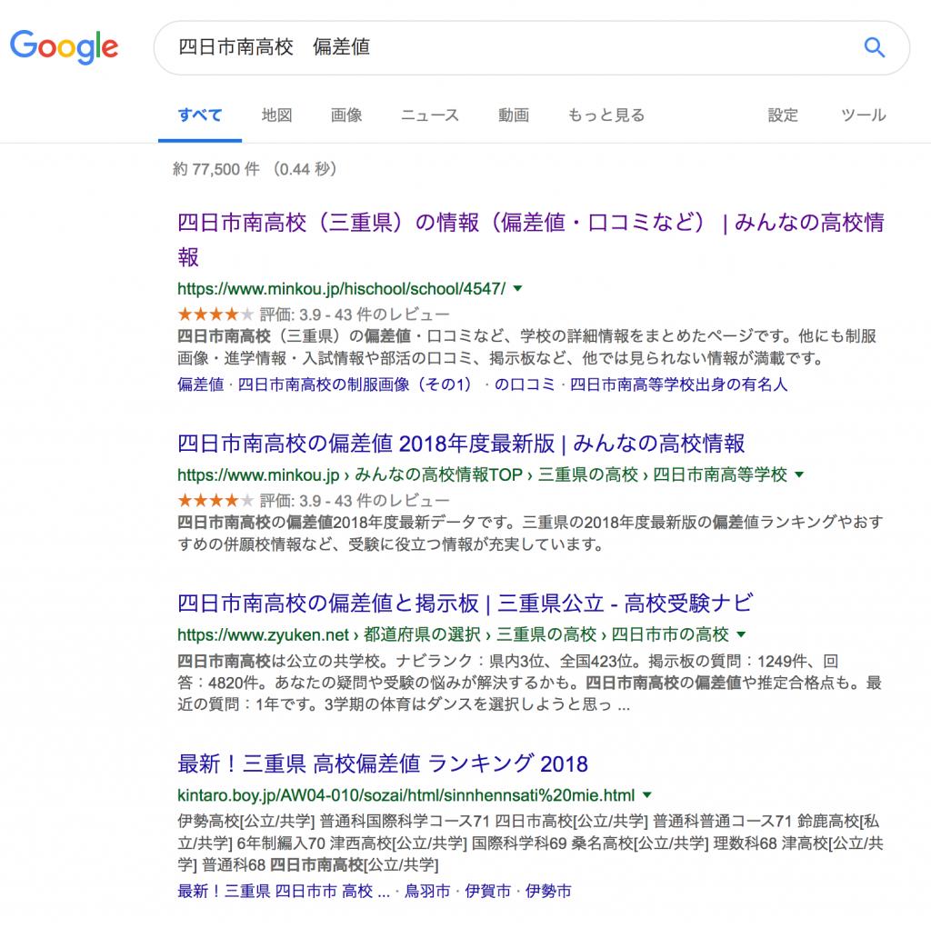三重県高校偏差値」インターネットサイトを学習塾がレビューしてみた ...